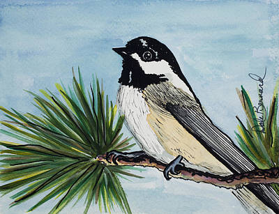 Painting - Chickadee by Dale Bernard