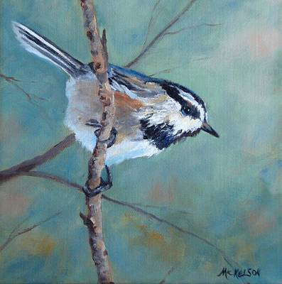Painting - Chickadee by Debra Mickelson