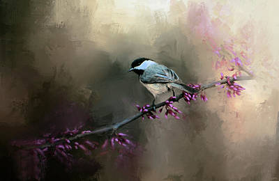 Chickadee In The Light Print by Jai Johnson