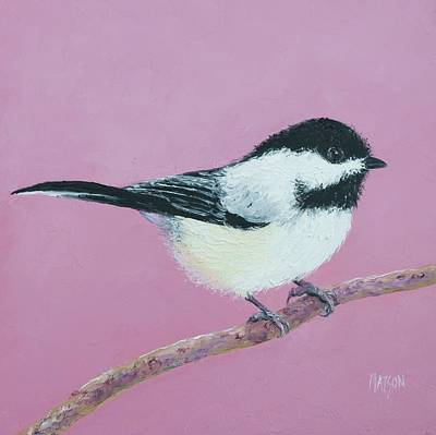 Painting - Chickadee by Jan Matson