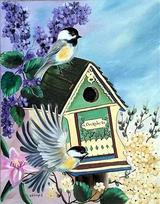 Painting - Chickadee Lane by Debra Campbell