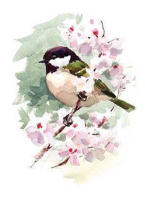 Birds Rights Managed Images - Chickadee Royalty-Free Image by Maria Stezhko