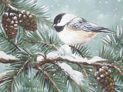 Chickadee Art Print by May Moore