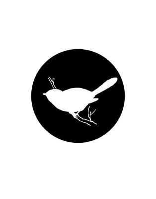 Titmouse Digital Art - Chickadee by Steph J Marten