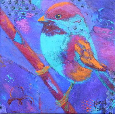 Painting - Chickadee by Nancy Jolley