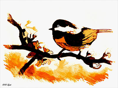 Chickadee Drawing - Chickadee On A Sunny Day by Debra Lynch
