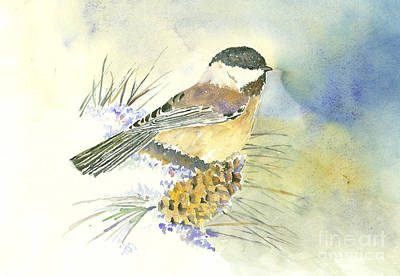 Painting - Chickadee Pine by Eric Fetsch