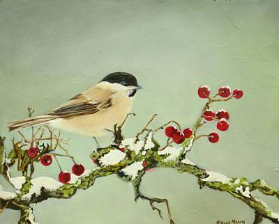Painting - Chickadee by Stella Marin