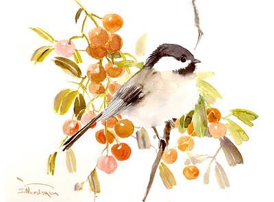 Chickadee Art Print by Suren Nersisyan