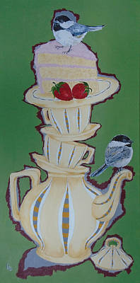 Painting - Chickadee Tea by Georgia Donovan