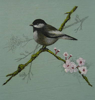 Chickadee Art Print by Victoria Heryet