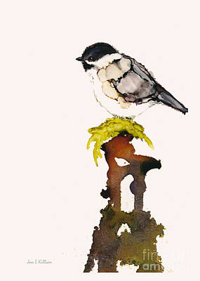 Painting - Chickadee With Moss by Jan Killian