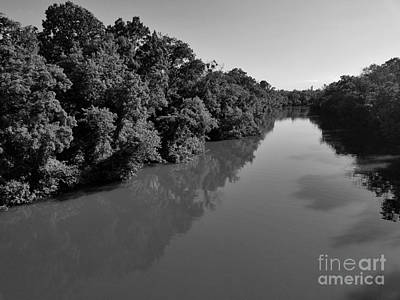 Photograph - Chickamauga Creek In Bw by Rachel Hannah