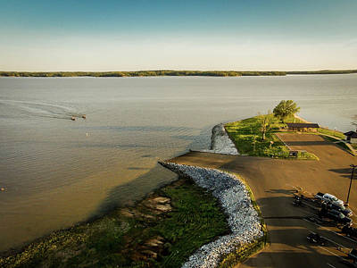 Photograph - Chickasaw Landing Aerial by Barry Jones