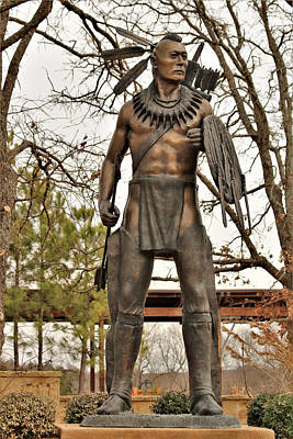 Photograph - Chickasaw Warrior by Sheila Brown