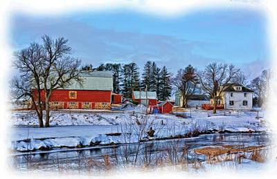 Rural Decay Mixed Media - Chickasaw Winter Painted by Bonfire Photography