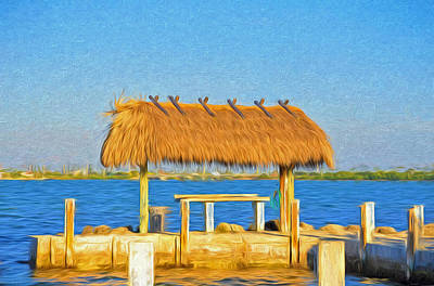 Photograph - Chickee Hut At Parmer's Resort In Florida Keys by Ginger Wakem