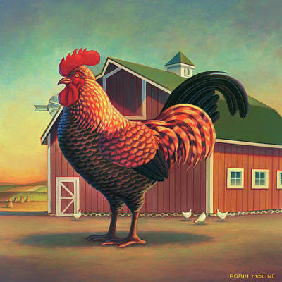 Painting - Barnyard by Robin Moline