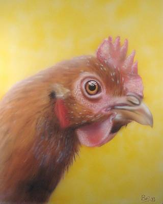 Painting - Chicken by Bas Hollander