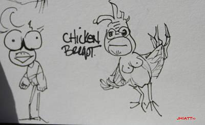 Drawing - Chicken Breast by Justin Hiatt