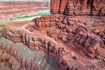 Photograph - Chicken Corner Trail And Colorado River by Marek Uliasz
