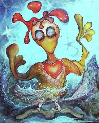 Chicken Dreaming Art Print