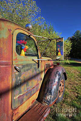 New Hampshire Photograph - Chicken Driver by Edward Fielding