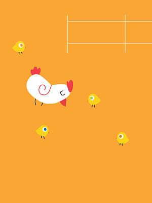 Digital Art - Chicken Family by Pbs Kids