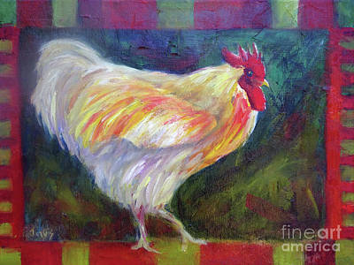 Painting - Chicken Folk Art by Carolyn Jarvis