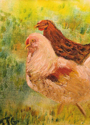 Painting - Chicken Love by Barbara Giordano