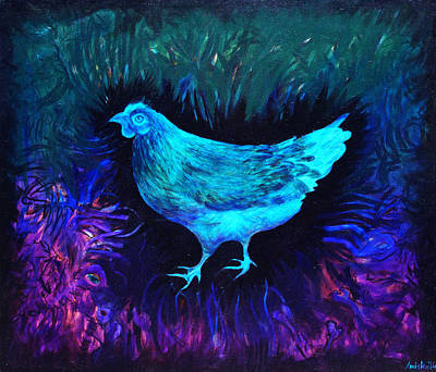 Cuckoo Painting - Chicken by MK Anisko