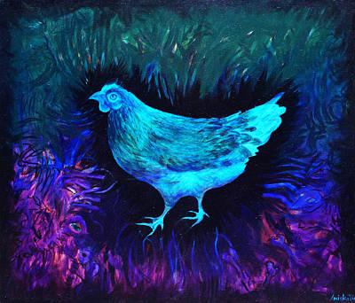 Chicken Art Print by MK Anisko