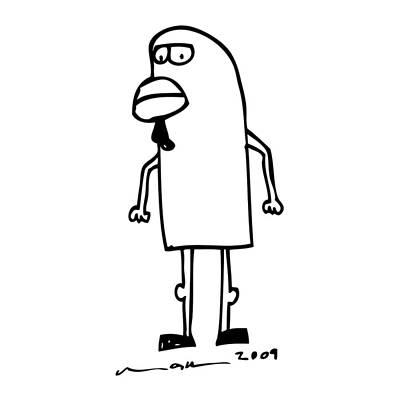 Chicken Man Art Print by Karl Addison