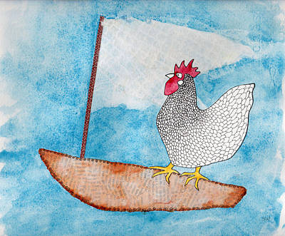 Rosedahl Painting - Chicken Of The Sea by Sarah Rosedahl