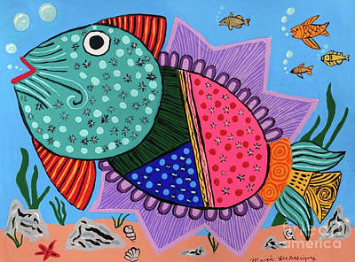 Painting - Chicken Pox Trout by Margie-Lee Rodriguez