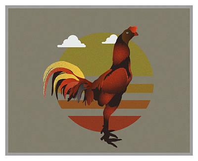 Artichoke Digital Art - Chicken by Purbawa ART