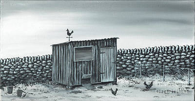 Painting - Chicken Run by Kenneth Clarke