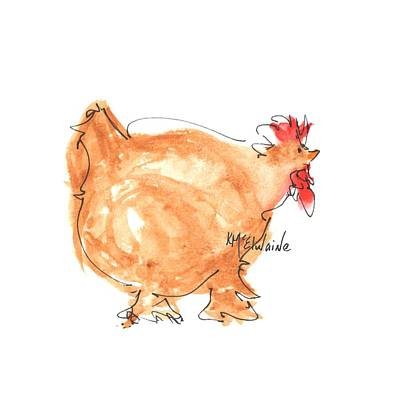 Painting - Chicken Scratch 4 by Kathleen McElwaine