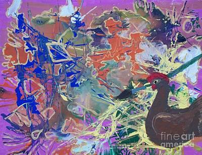 Folk Art Mixed Media - Chicken Scratch by Seaux-N-Seau Soileau