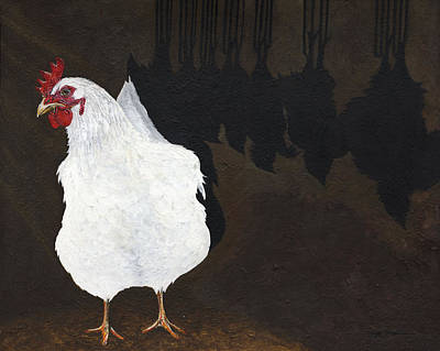 Rights Painting - Chicken Shadow by Twyla Francois