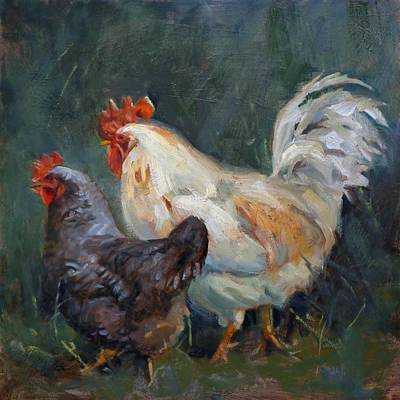 Painting - Chicken Tales by Donna Shortt