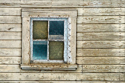 Photograph - Chicken Wire Window by Paul DeRocker