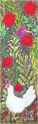 Chicken With An Attitude In Vegetation Art Print