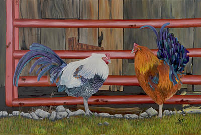 Painting - Chickens by Sam Davis Johnson