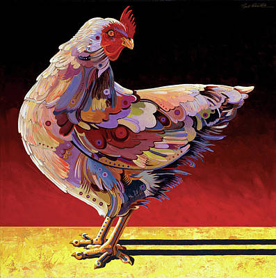 Imaginary Realism Painting - Chickenscape II by Bob Coonts