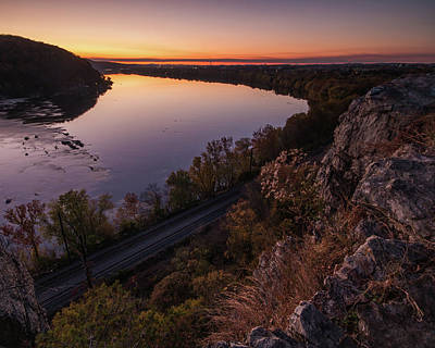 Photograph - Chickie Rock Sunset by Jim Cheney