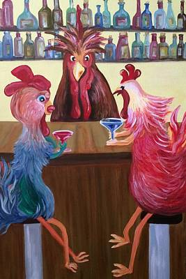 Chicks Night Out Original by Lisa Graves