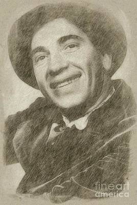 Classic Portrait Drawing - Chico Marx, Comedian And Actor by Frank Falcon