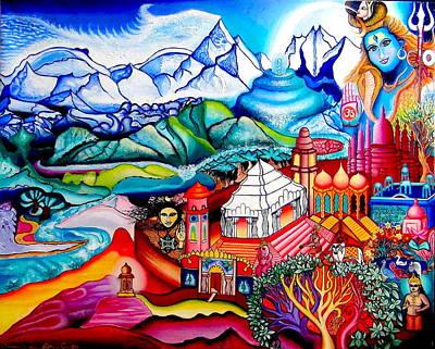Himalaya Painting - Chidananda Rupa by Padmananda