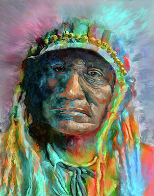 Chief 2 Art Print by Rick Mosher